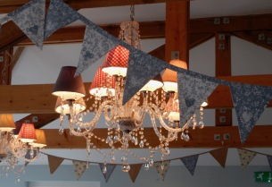 Chandelier and bunting