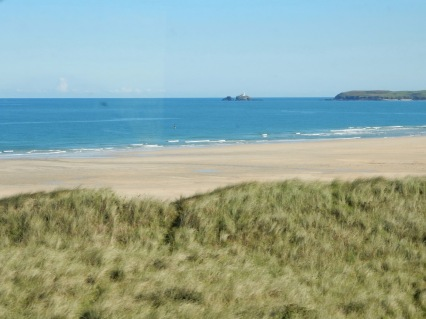 Godrevy from the train