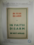 Peace Poster in the Quaker Meeting House