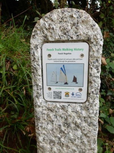 Marker on the woodland walk
