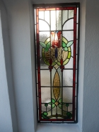 Stained glass window at LT's home