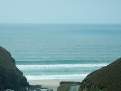 View as we drove down to Chapel Porth