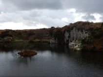 Lowering clouds over the quarry