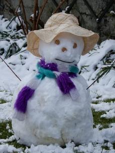 Suffragette Snow Woman
