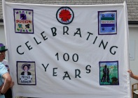 Banner made by members of the Mawnan Smith Women's institute