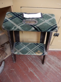 Denver Rio Grande Stool used to climb in and out of the Pullman Bunks