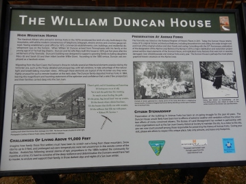 The William Duncan House Info board