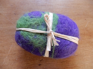 Soap in felted wool