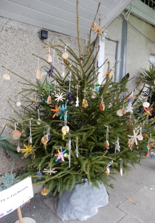A tree decorated by a local Nursery