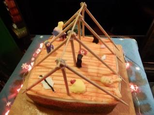 Partly finished cake
