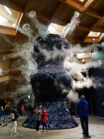 Infinity Blue blowing smoke rings