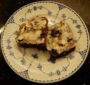 Sliced and buttered Malt Loaf