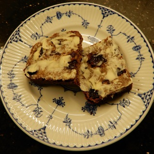 Sliced and buttered Malt Loaf