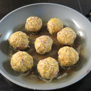 Balls frying in butter