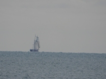 Tall ship on the horizon