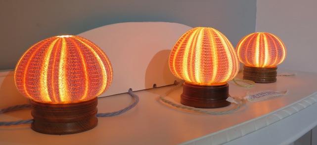 Sea Urchin lamps by Jessica Pearson
