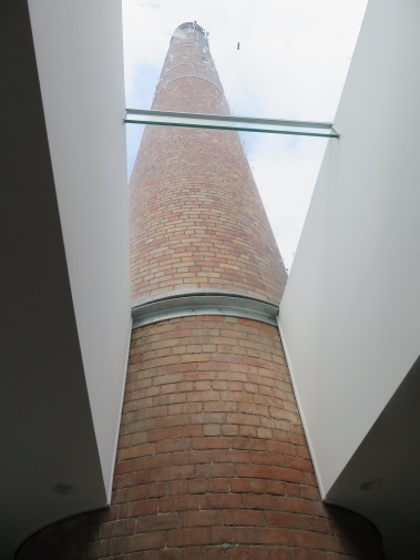 looking up at the chimney
