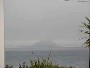 St Michael's Mount in early morning mist